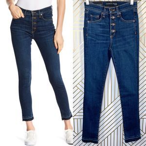 "Veronica Beard Debbie 10"" Frayed Hem Jeans"